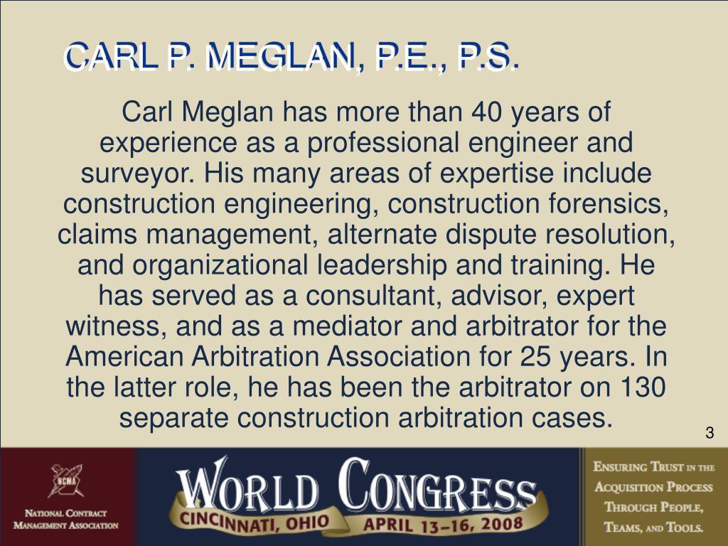 CARL P. MEGLAN, P.E., P.S.