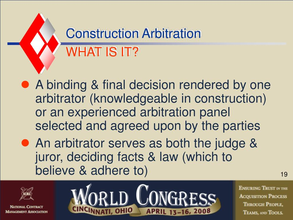 Construction Arbitration