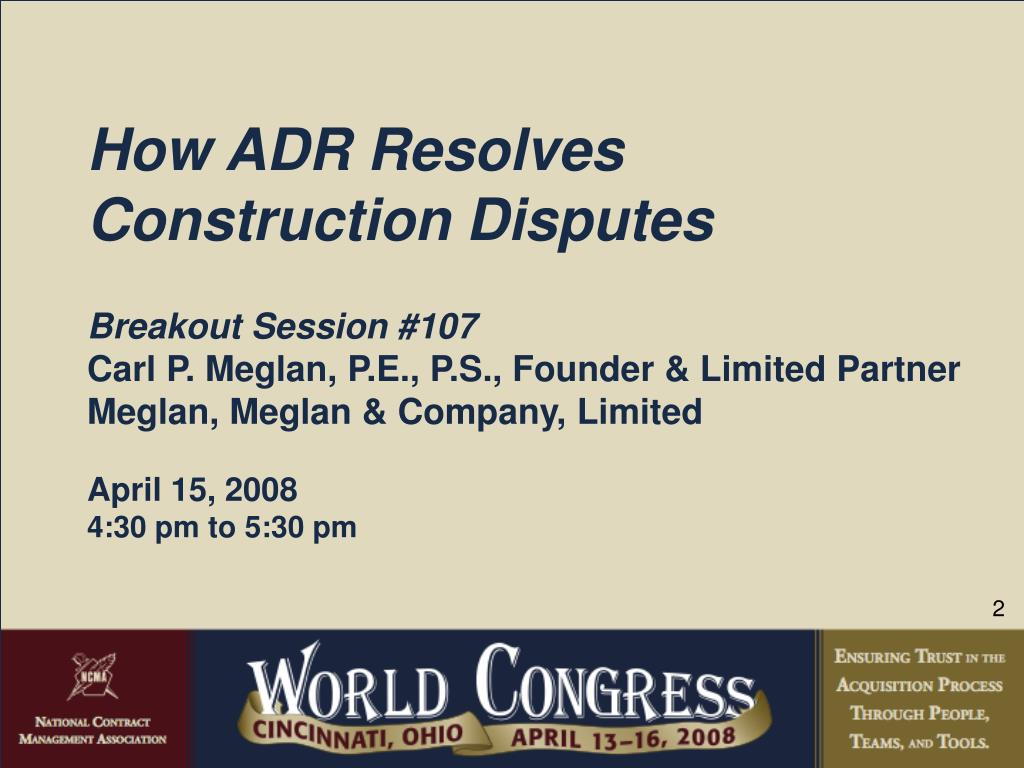 How ADR Resolves Construction Disputes