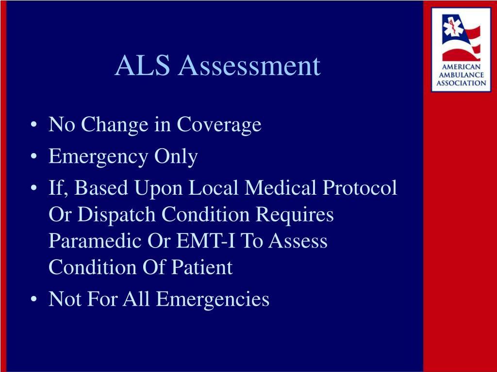 ALS Assessment