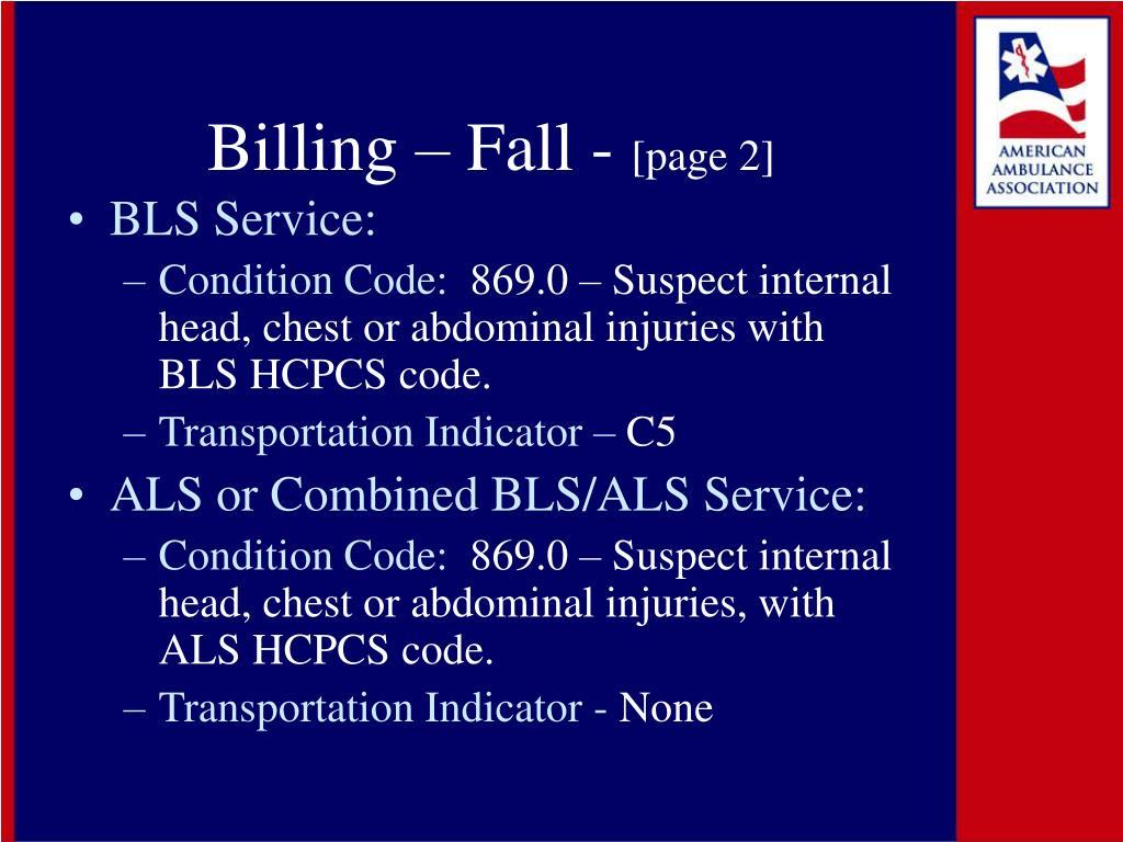 Billing – Fall -