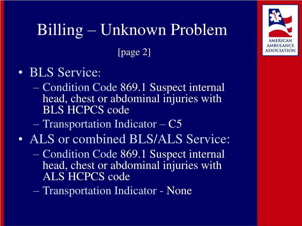 Billing – Unknown Problem