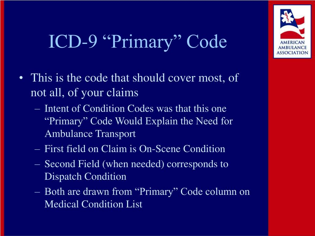 """ICD-9 """"Primary"""" Code"""