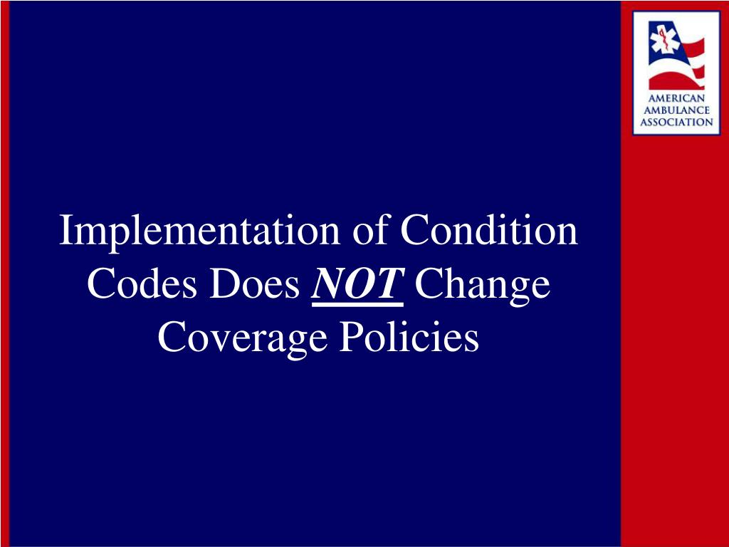 Implementation of Condition Codes Does