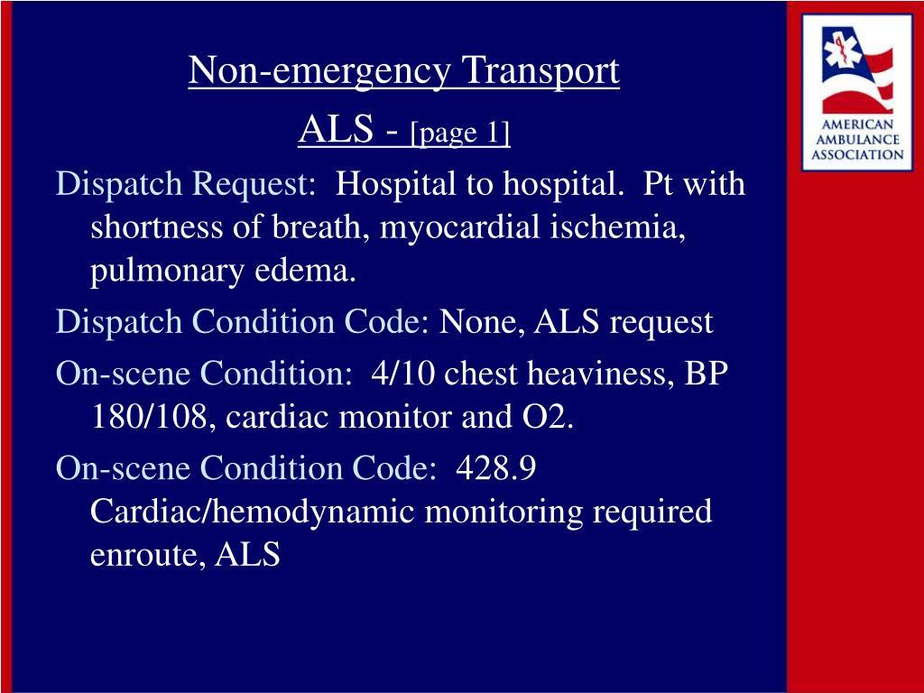 Non-emergency Transport