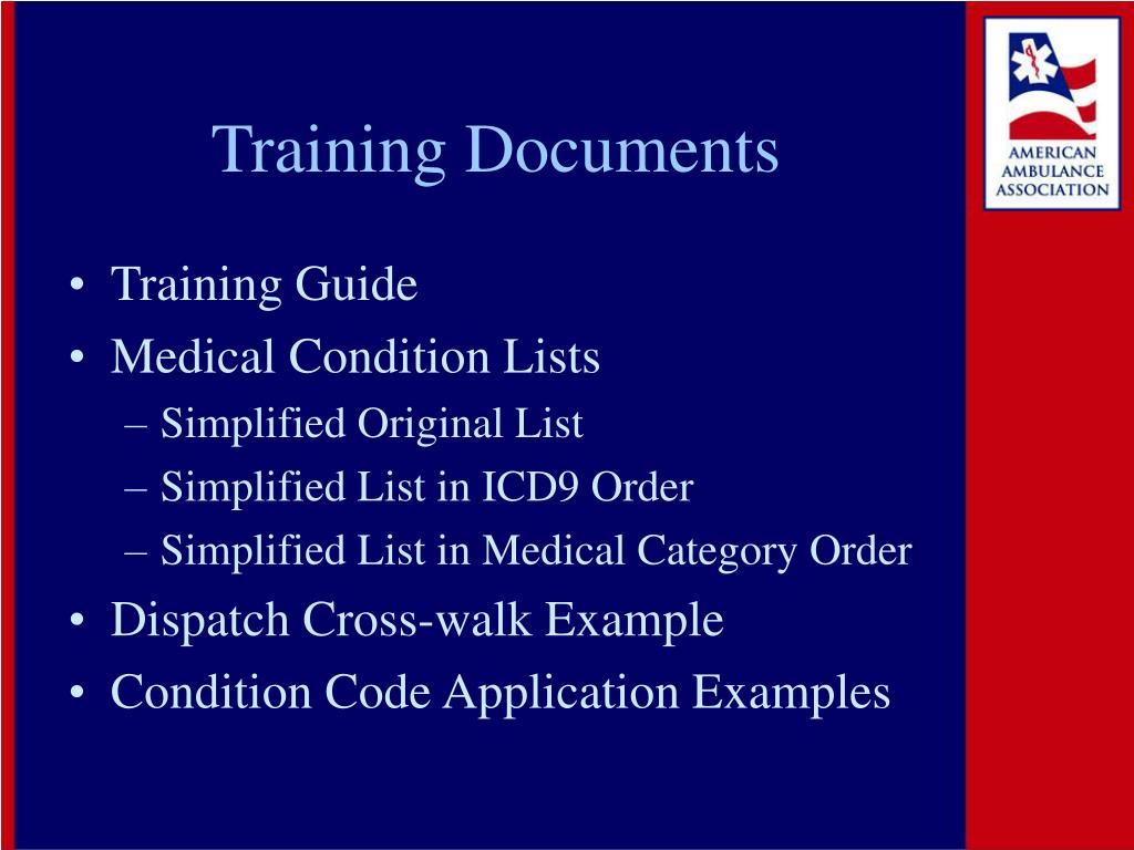 Training Documents