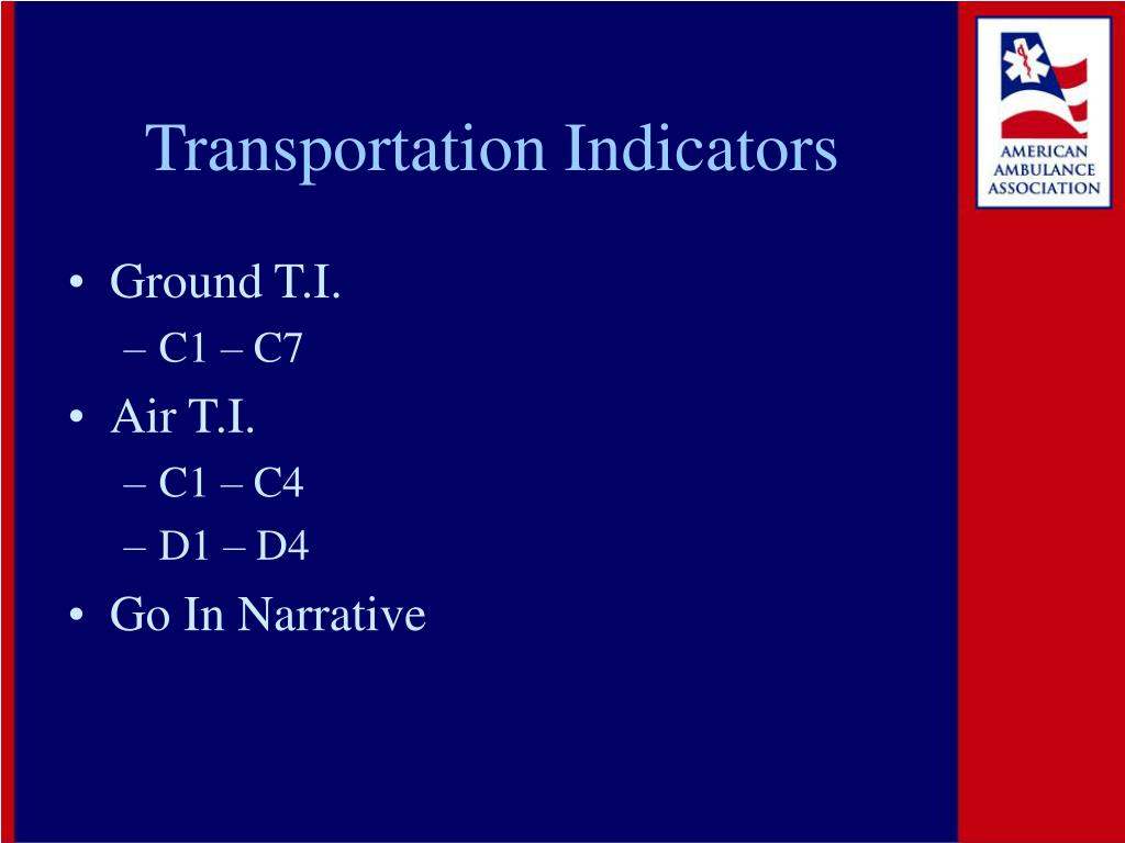 Transportation Indicators