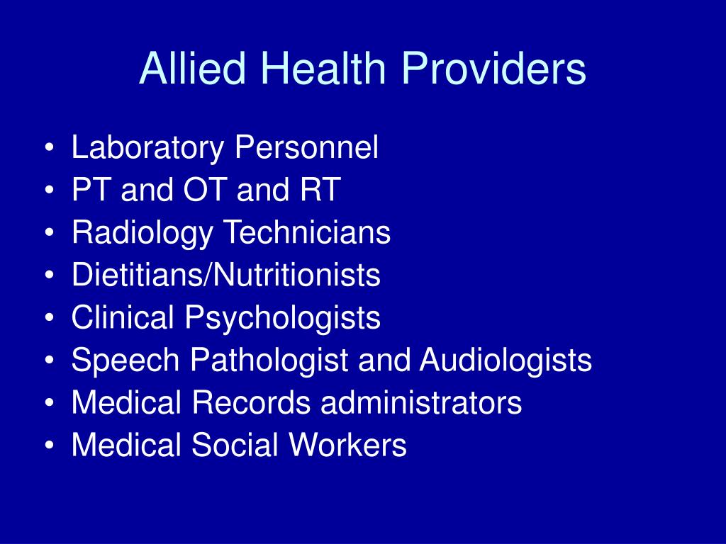 Allied Health Providers