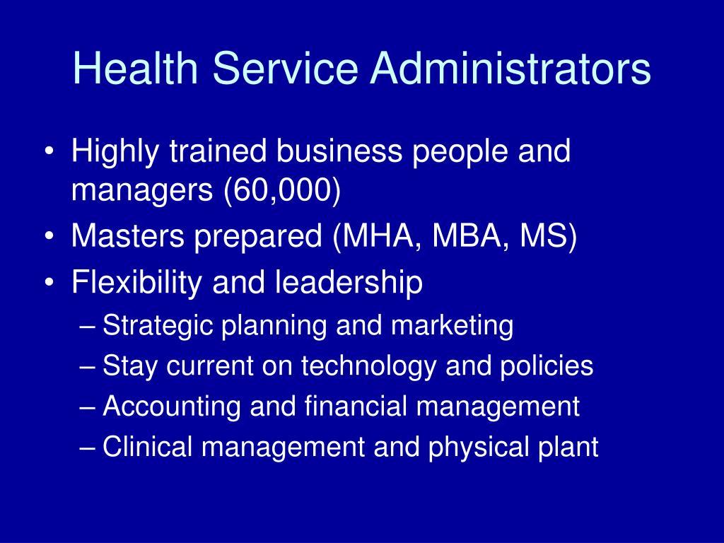 Health Service Administrators