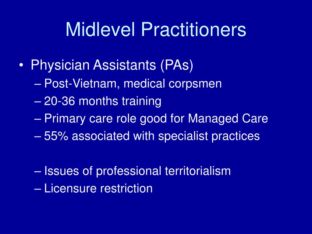 Midlevel Practitioners