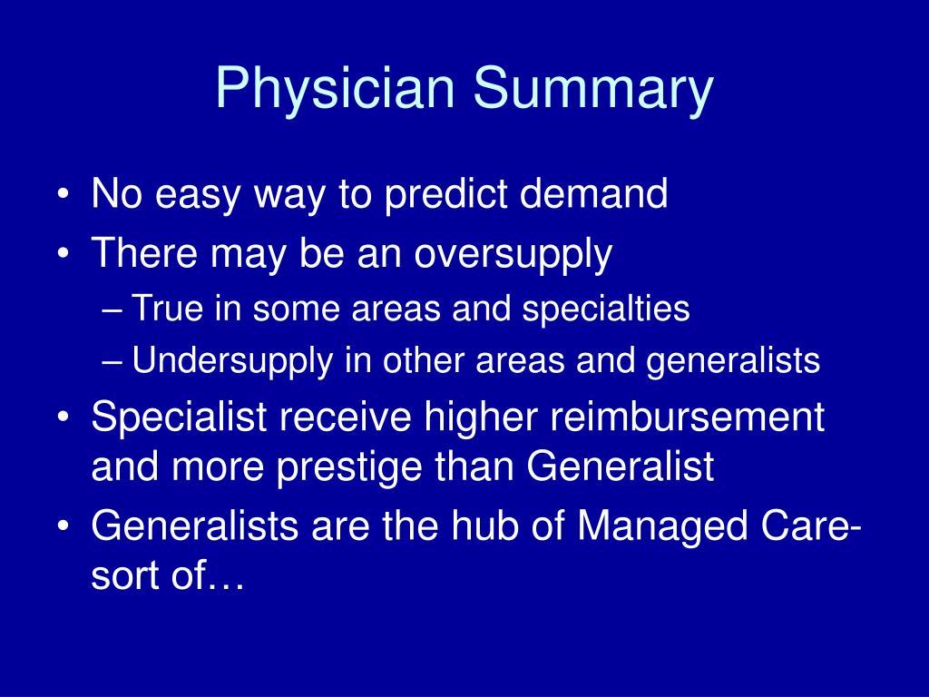 Physician Summary