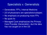 specialists v generalists