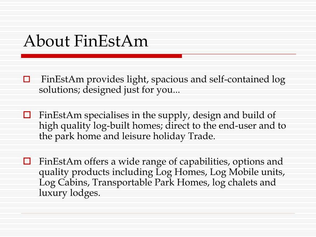 About FinEstAm
