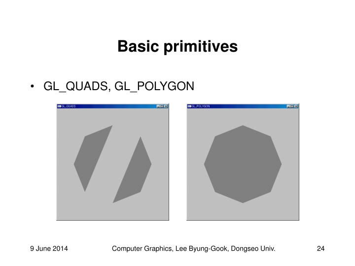Basic primitives