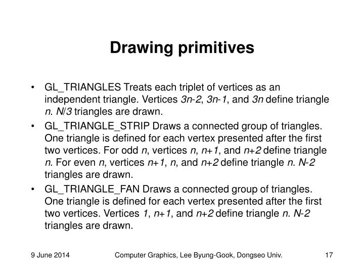 Drawing primitives