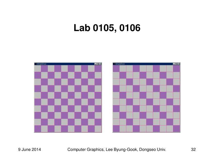 Lab 0105, 0106