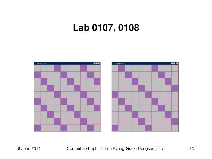 Lab 0107, 0108