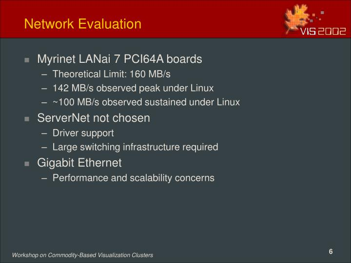 Network Evaluation