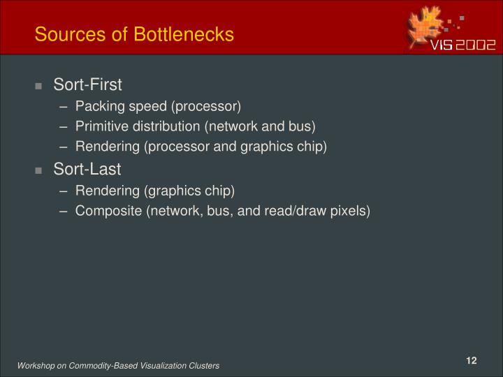 Sources of Bottlenecks