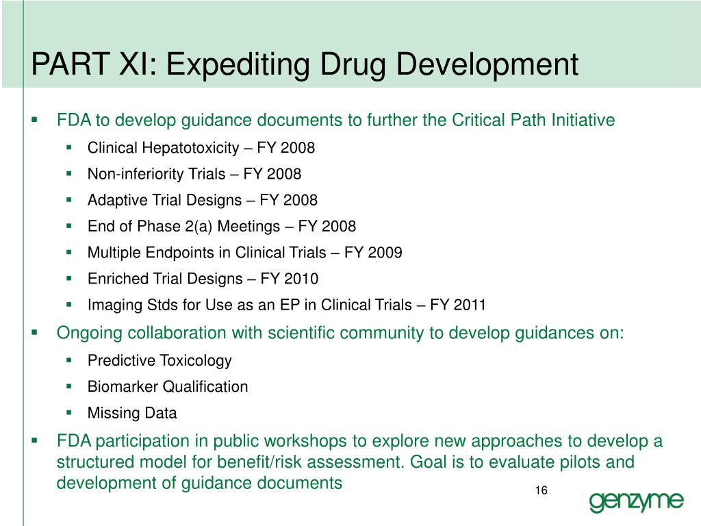 PART XI: Expediting Drug Development