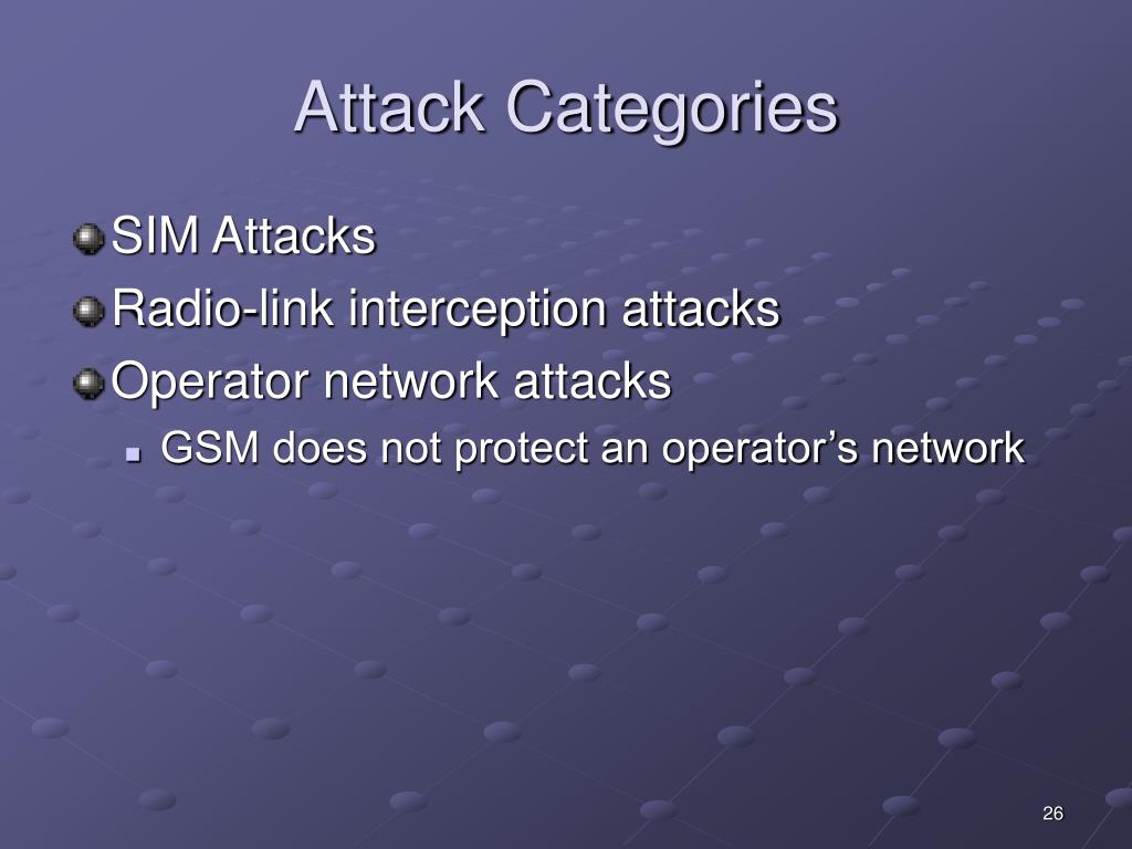 Attack Categories