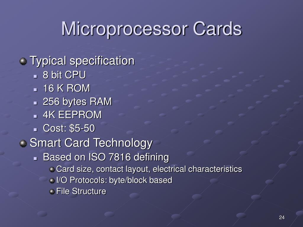Microprocessor Cards