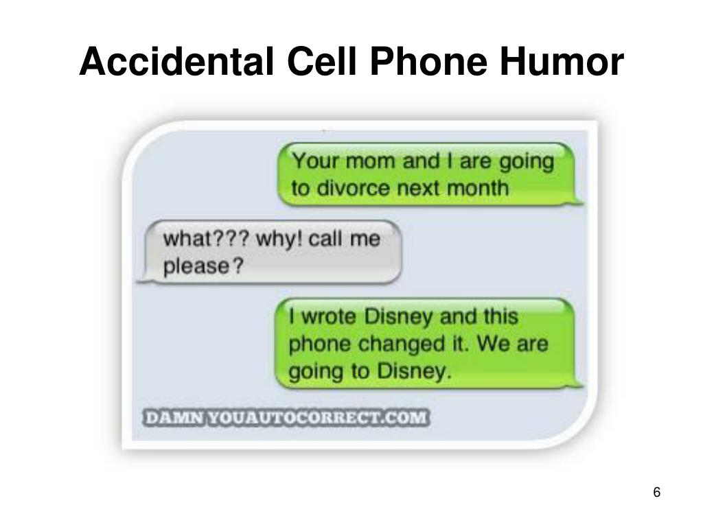 Accidental Cell Phone Humor