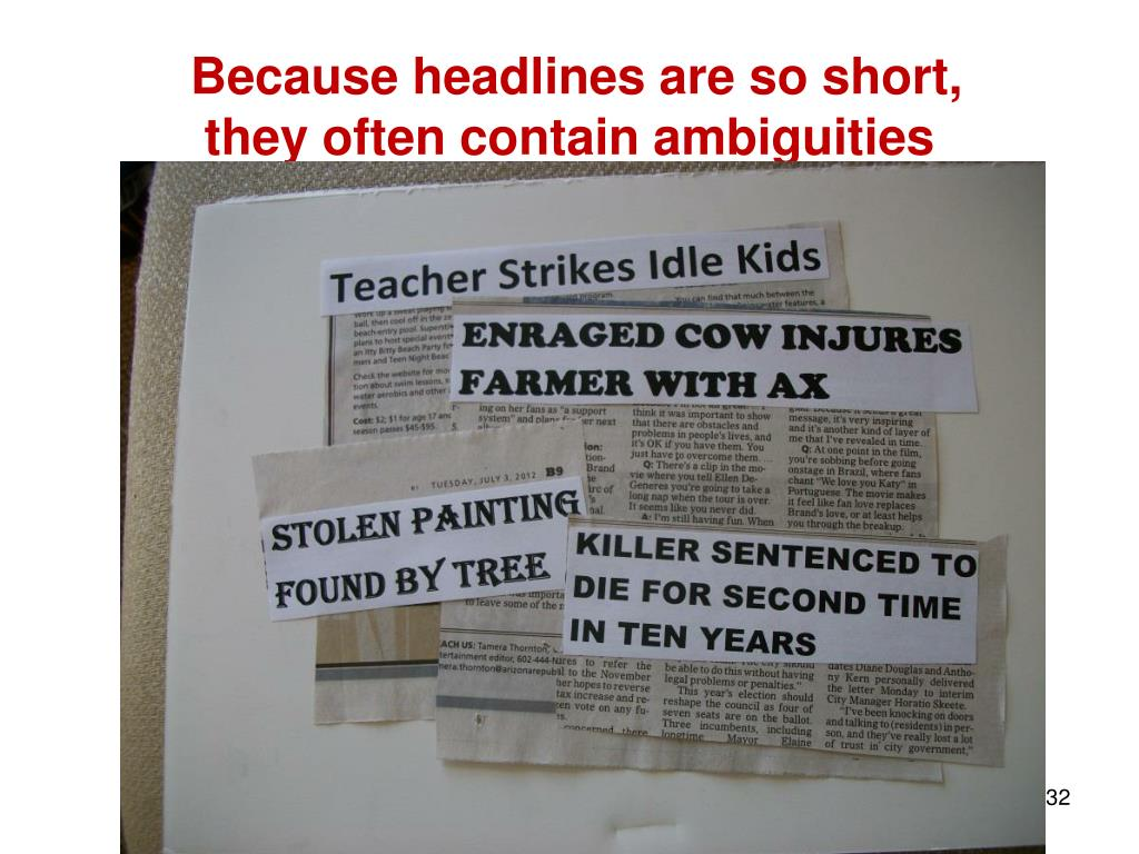 Because headlines are so short,
