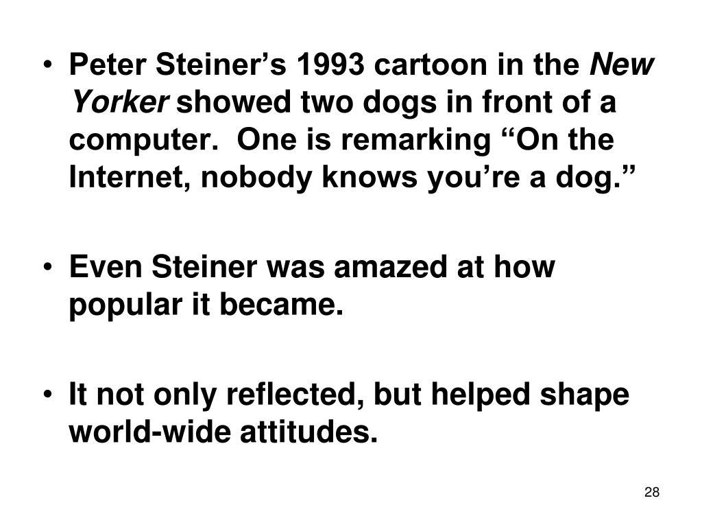 Peter Steiner's 1993 cartoon in the