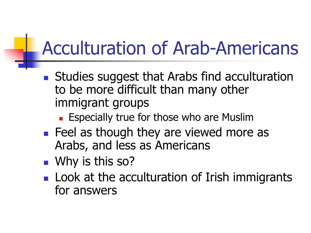 Acculturation of Arab-Americans