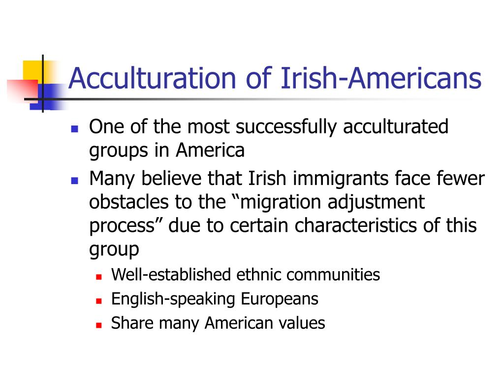 Acculturation of Irish-Americans