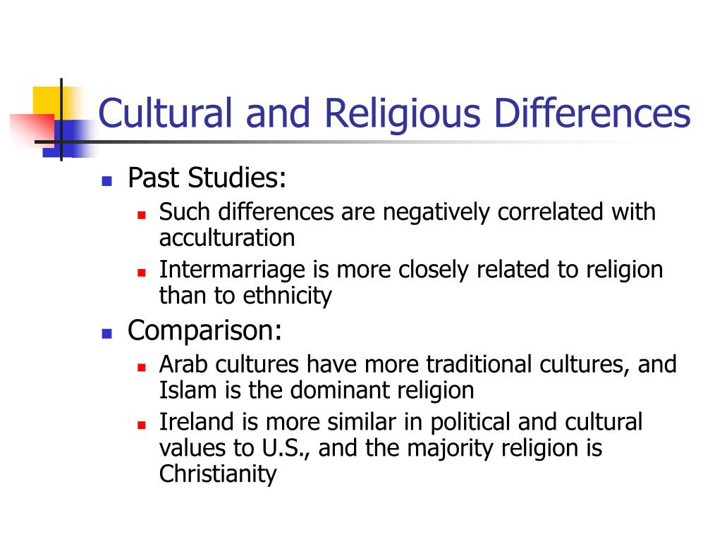 Cultural and Religious Differences