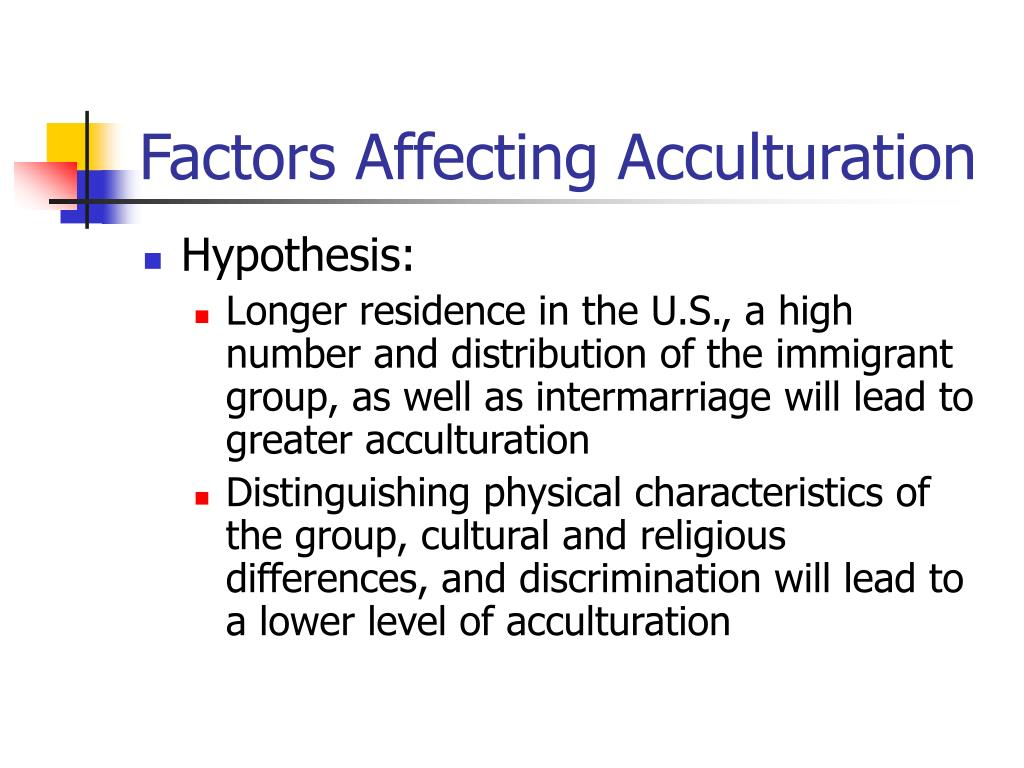 Factors Affecting Acculturation