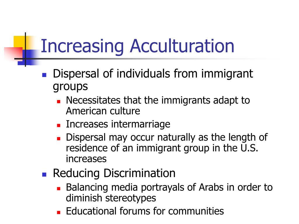 Increasing Acculturation