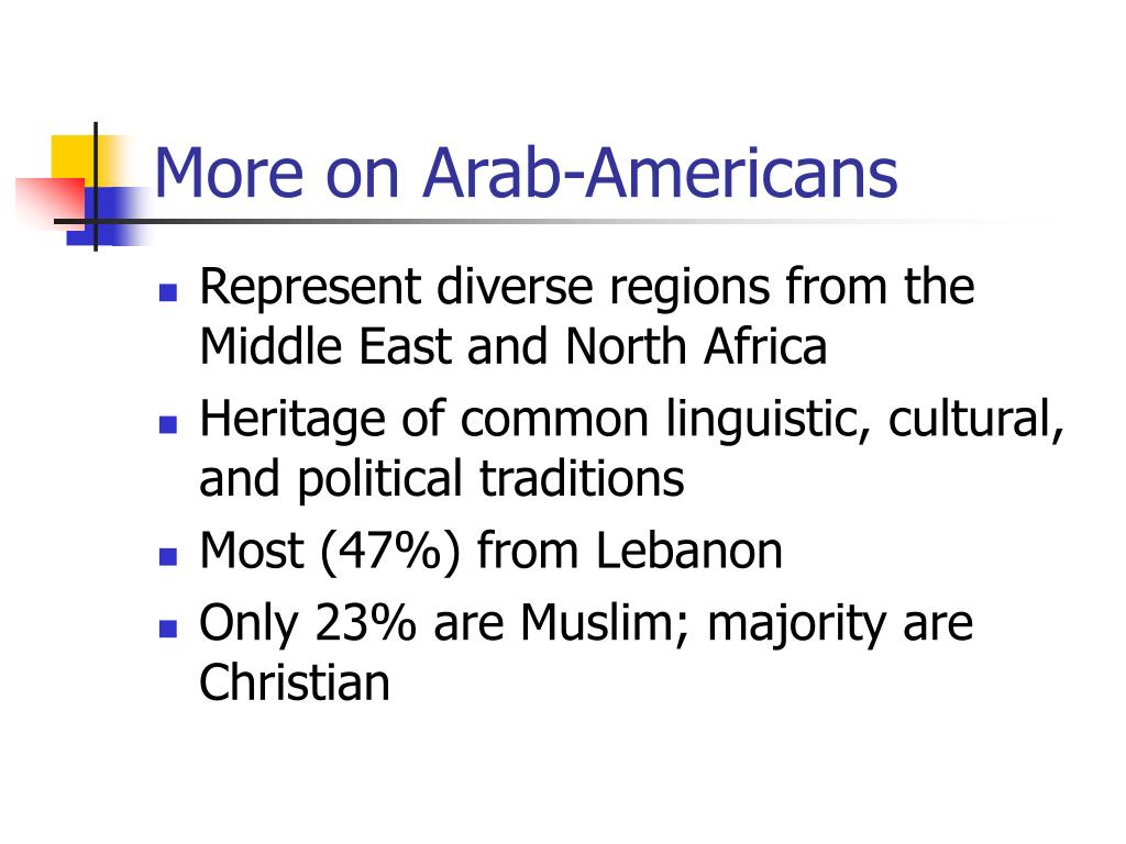 More on Arab-Americans