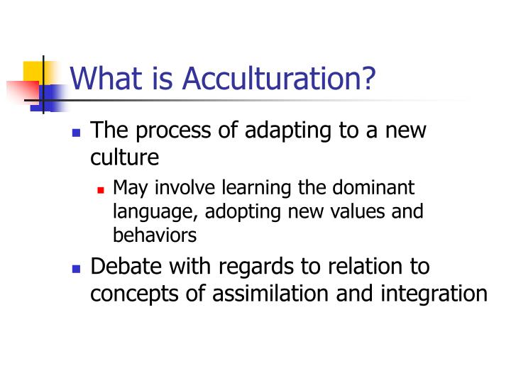 What is acculturation