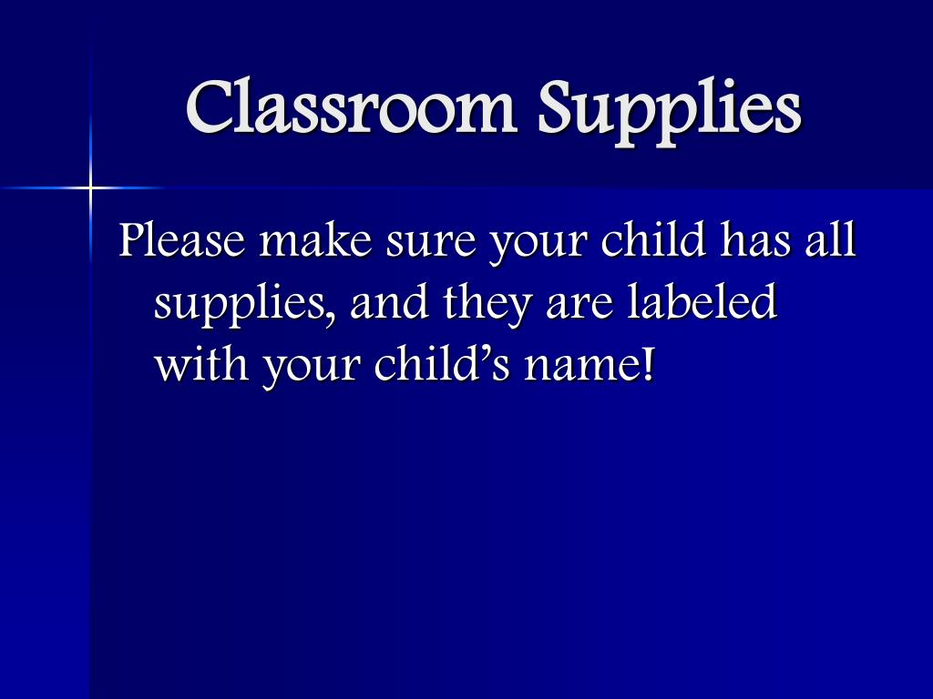 Classroom Supplies