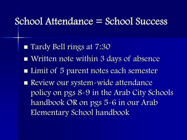 School attendance school success