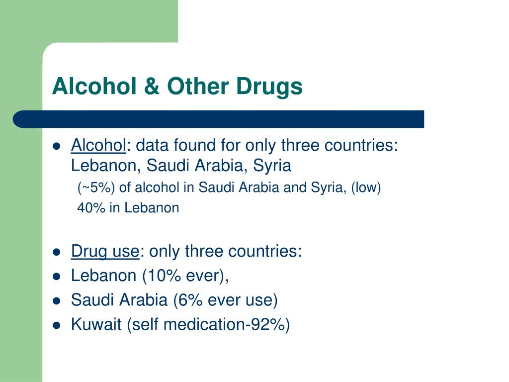 Alcohol & Other Drugs