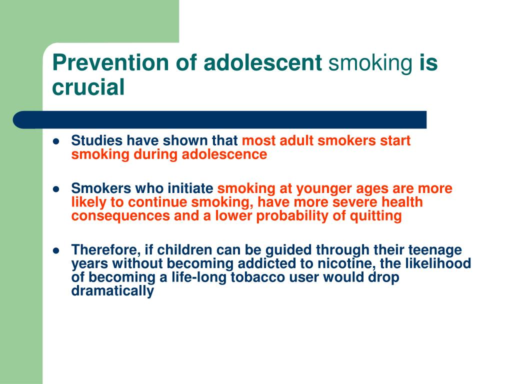 Prevention of adolescent