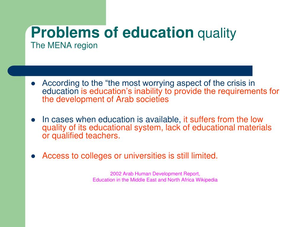 Problems of education