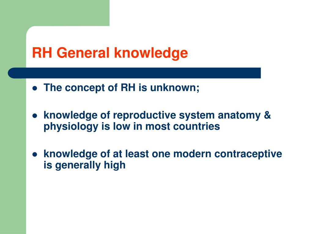 RH General knowledge