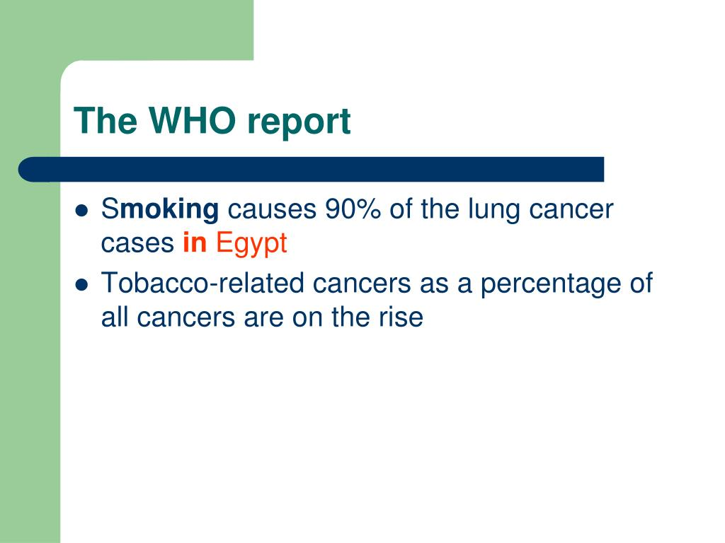 The WHO report