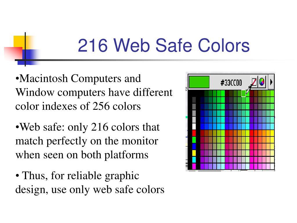 216 Web Safe Colors
