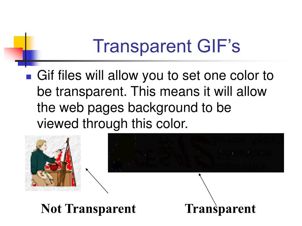 Transparent GIF's