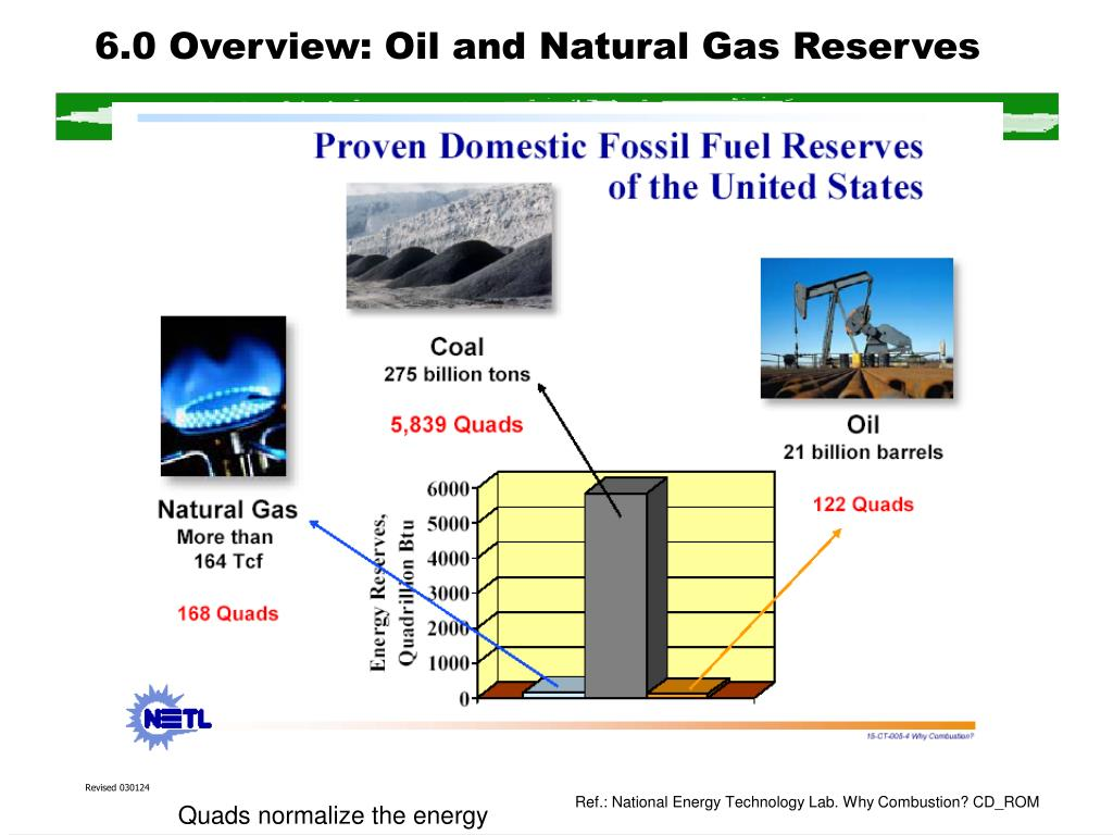 6.0 Overview: Oil and Natural Gas Reserves