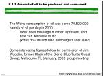 6 1 1 amount of oil to be produced and consumed