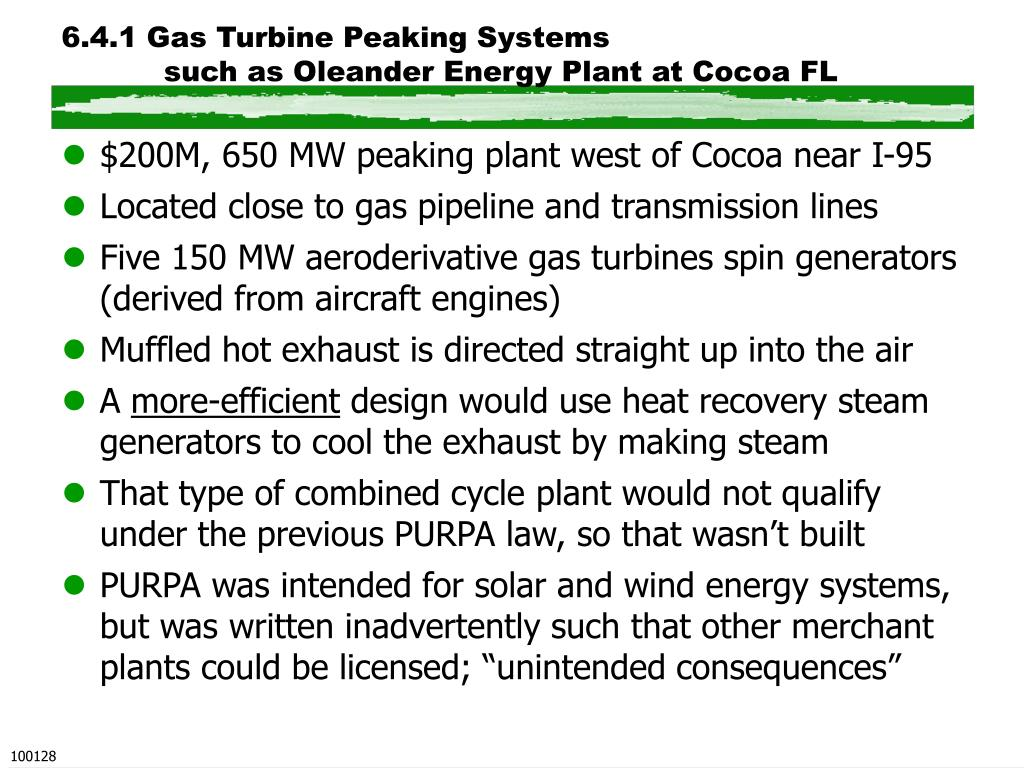 6.4.1 Gas Turbine Peaking Systems