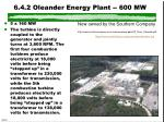 6 4 2 oleander energy plant 600 mw
