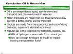 conclusion oil natural gas